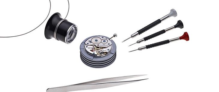 Watch Academy, WA - Watch Academy, Uhrenseminar, ETA 6497-2, Lupe, Schraubenzieher